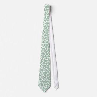 Grüner Giraffen-Druck Krawatten
