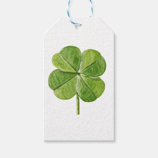 Grüner glücklicher Kleeblattklee Heiliger Geschenkanhänger