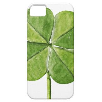 Grüner glücklicher Kleeblattklee Heiliger iPhone 5 Cover