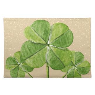 Grüner glücklicher Kleeblattklee Heiliger Tischset