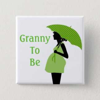 Grüner Großmutter-Knopf Quadratischer Button 5,1 Cm