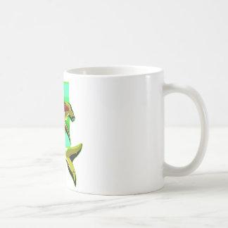 Grüner Hammerhai-Haifisch Kaffeetasse
