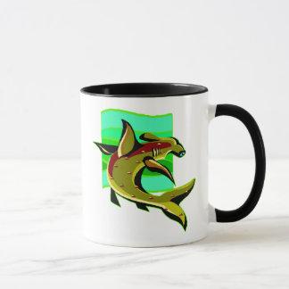 Grüner Hammerhai-Haifisch Tasse