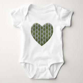 Grüner Harlekin Bling Baby Strampler