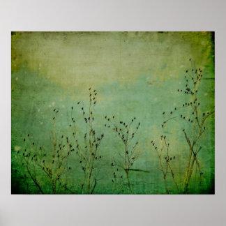 Grüner Himmel mit Pfefferminzaroma Poster