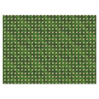 Grüner Hintergrund mit GoldLilie Seidenpapier