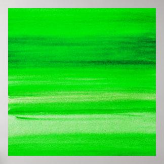 Grüner Hintergrundneonwatercolor-abstrakter Poster
