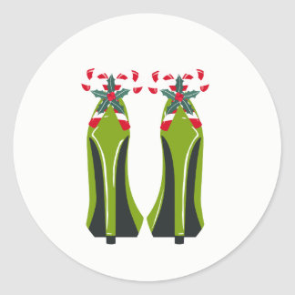 Green High Heels with Candy Canes