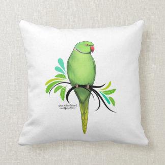 Grüner Inder Ringneck Papagei Kissen