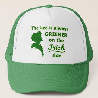 Grüner irischer Lass Truckerkappe