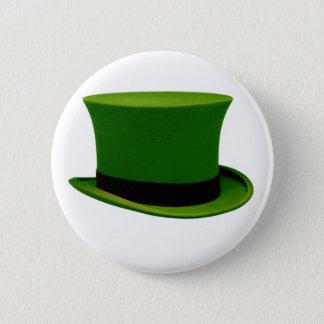 Grüner irischer Zylinder-Knopf Runder Button 5,7 Cm