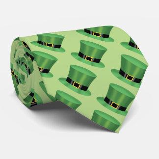 Grüner irischer Zylinder Krawatte