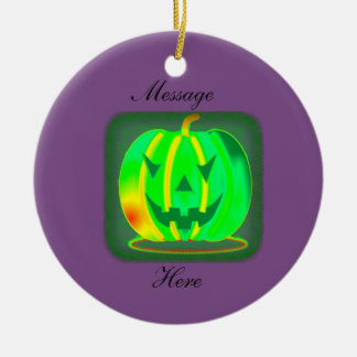 Grüner Jack o'lantern Halloween Thunder_Cove Keramik Ornament
