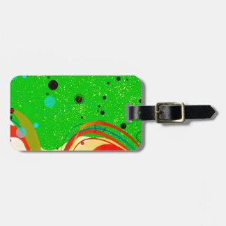 Grüner Jazz-Hintergrund Kofferanhänger