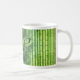 Grüner Katzen-Bambus Kaffeetasse