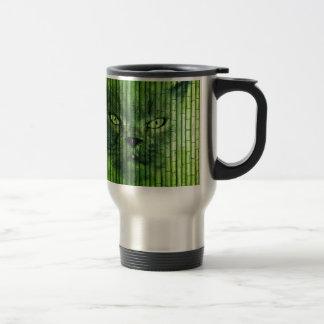 Grüner Katzen-Bambus Reisebecher