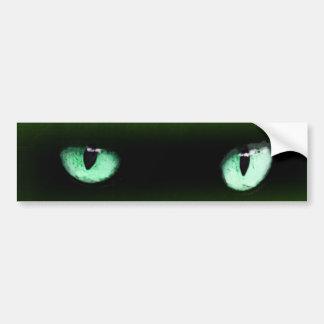 Grüner Katzenaugen-Autoaufkleber Autoaufkleber