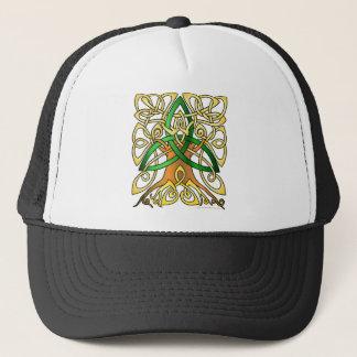 Grüner keltischer Kunst-Dreiheits-Baum Truckerkappe
