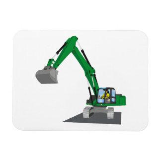 grüner Kettenbagger Magnet
