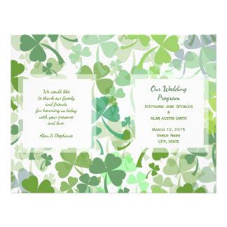 Grüner Klee ganz über Hochzeits-Programm-Flyern 21,6 X 27,9 Cm Flyer