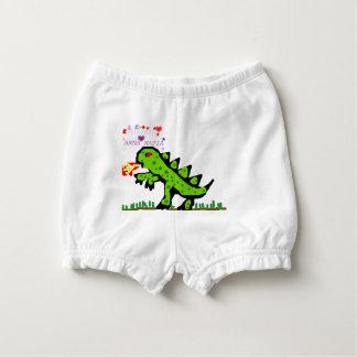 Grüner kleiner Drache Baby-Windelhöschen