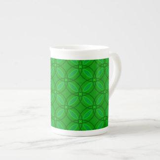 Grüner Koffein-Neid Porzellantasse