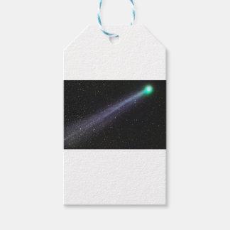 Grüner Komet Geschenkanhänger