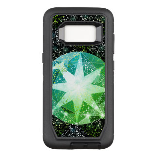 Grüner Kompass-Edelsteinrhinestone-Goldschein OtterBox Defender Samsung Galaxy S8 Hülle