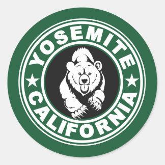 Grüner Kreis Yosemite Runder Aufkleber