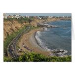 Grüner Küstenstrand in Lima-Peru Grußkarten