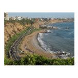 Grüner Küstenstrand in Lima-Peru Postkarten