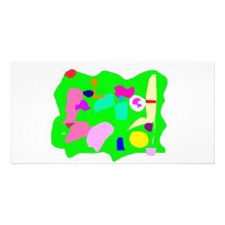 Grüner Land-Haus-Garten-Bauernhof-städtische Kultu Bilderkarte