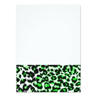 Grüner Leopard-Druck Ankündigung