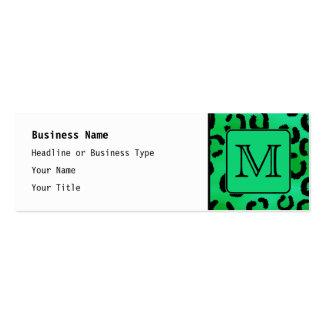 Grüner Leopard-Druck mit kundenspezifischem Mini-Visitenkarten