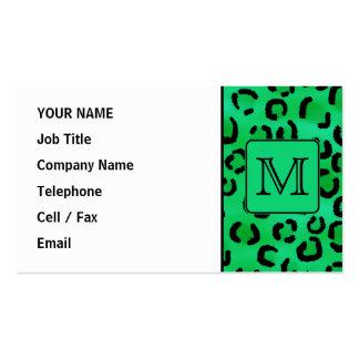 Grüner Leopard-Druck mit kundenspezifischem Visitenkarten