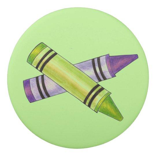 Grüner lila Zeichenstift-personalisierte Radiergummis 0