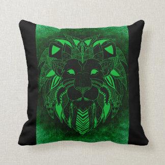 Grüner Löwe, dekoratives Löwe-Kissen Kissen