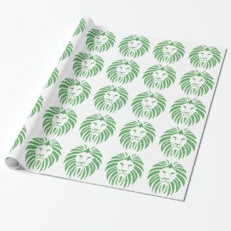 Grüner Löwe-Kopf Geschenkpapier