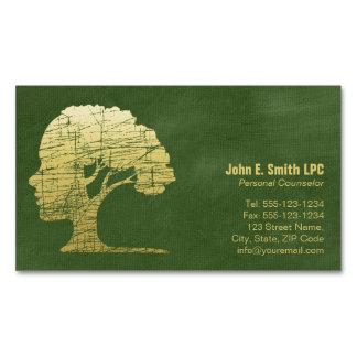 Grüner Luxuspsychologe-persönlicher Ratgeber Visitenkartenmagnet