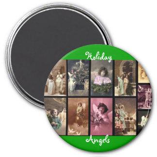 Grüner Magnet der Feiertags-Engels-II - kundengere Magnete