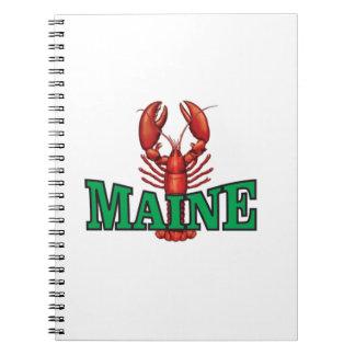 grüner Maine-Hummer Spiral Notizblock