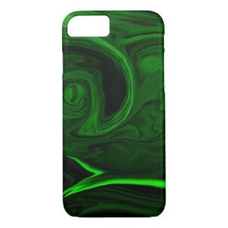 grüner Malachitstein der Beschaffenheit iPhone 8/7 Hülle