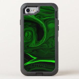 grüner Malachitstein der Beschaffenheit OtterBox Defender iPhone 8/7 Hülle