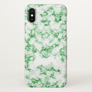 Grüner Marmor iPhone X Hülle