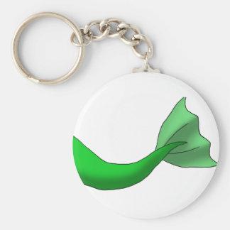Grüner Meerjungfrau-Schwanz Standard Runder Schlüsselanhänger