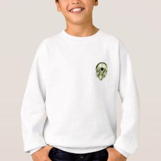 Grüner menschlicher Schädel unten Sweatshirt