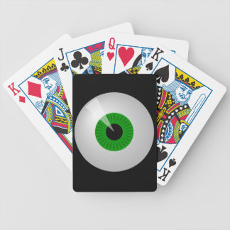Grüner Monster-Cartoon-Augen-Augapfel-Spielkarten Bicycle Spielkarten