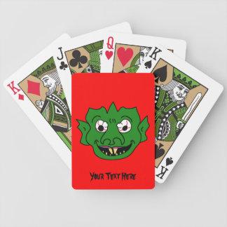 Grüner Monster-Kopf Bicycle Spielkarten