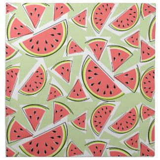 Grüner multi Serviettenstoff der Wassermelone Stoffserviette