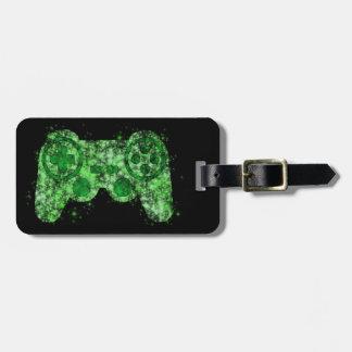 Grüner NeonVideospiel-Prüfer-Gepäckanhänger Gepäckanhänger